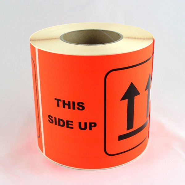 "Hinweisetiketten, Papier ""THIS SIDE UP"" (EN) 210mm x 150mm 500Etiketten/ Rolle"