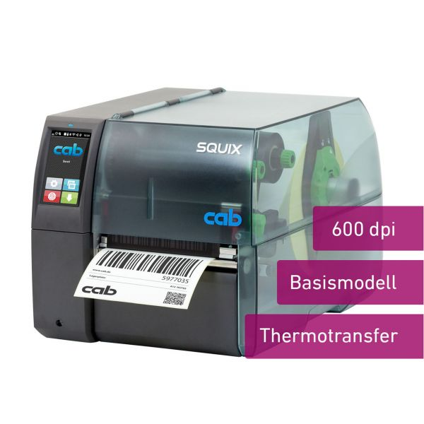 cab SQUIX 4 600dpi Basismodell, Thermotransfer
