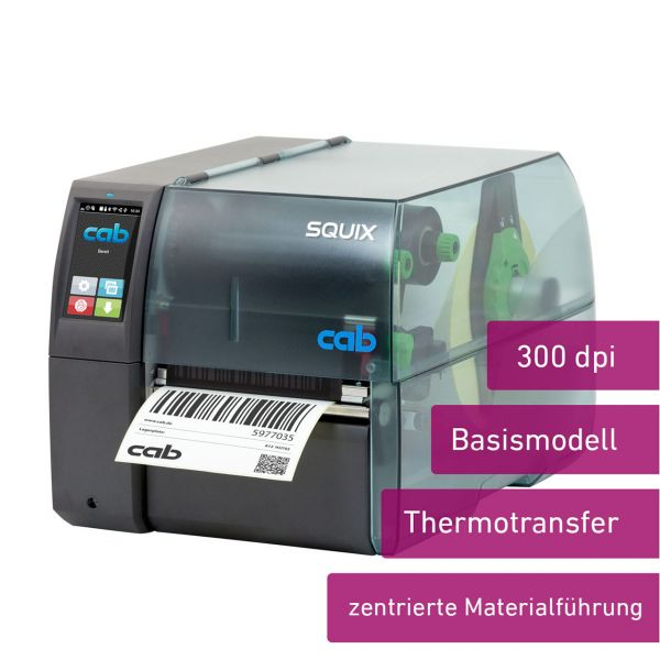 cab SQUIX 4 300dpi M Basismodell, Thermotransfer
