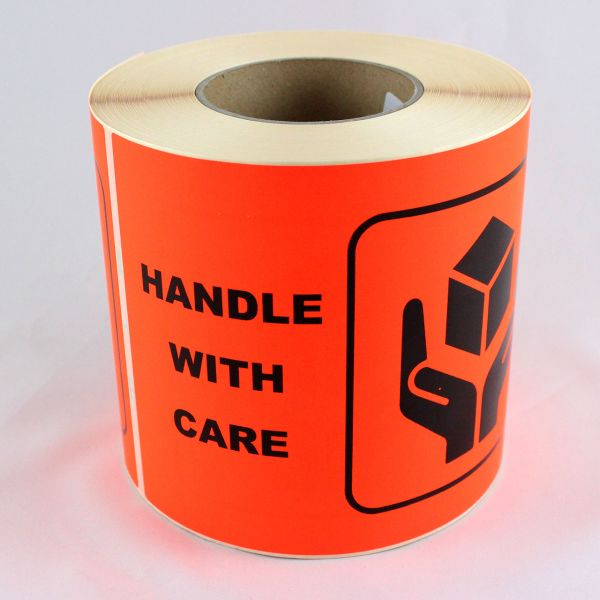 Etiketten -handle with care- 210 x 150 mm